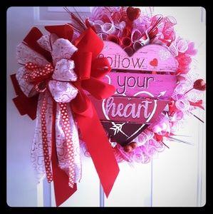 Accessories Valentines Day Deco Mesh Wreath Poshmark